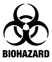 Black and White Bio-hazard Symbol