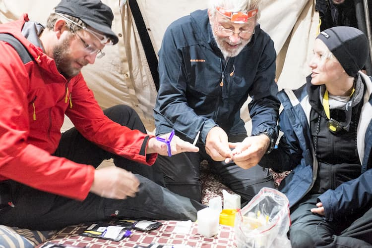 Campers, Remote Blood Collection