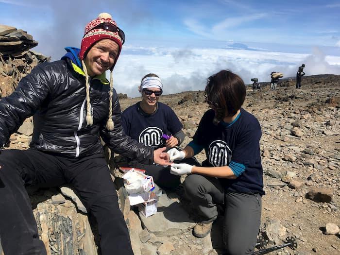 Collecting Blood on Mt. Kilimanjaro