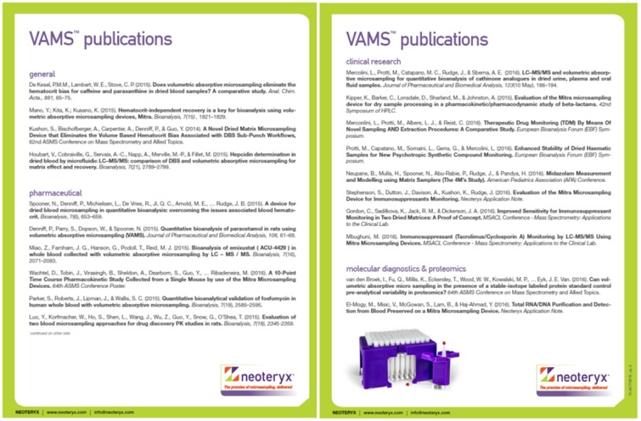 VAMS Publication List