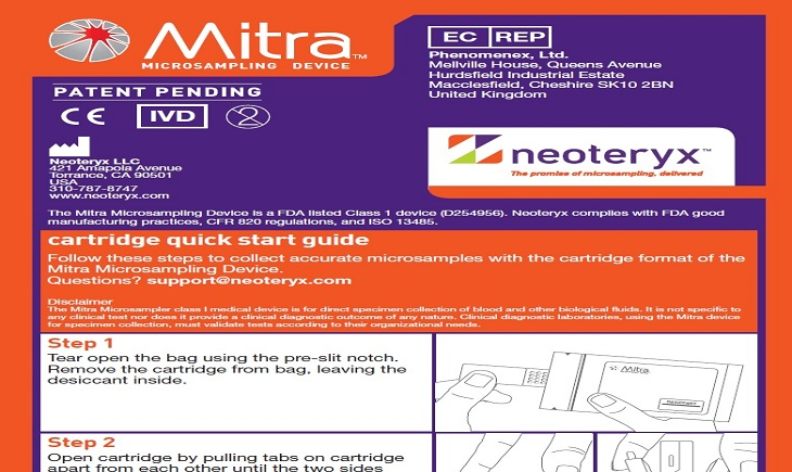 Mitra Cartridge Quick Start Guide