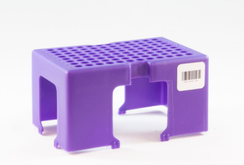 Empty racks facilitate fast plate building with microsamplers removed from Clamshell or Cartridge formats.