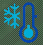Thermometer graphic depicting freezing temperatures