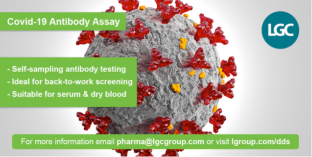 LGC COVID-19 Antibody Assay Processes up to 40,000 Tests Per Day in UK